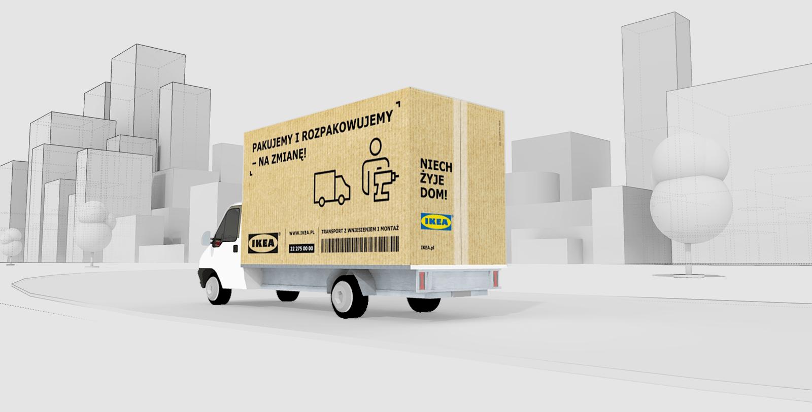 IKEA Van Kfz Lieferwagen Perspektive